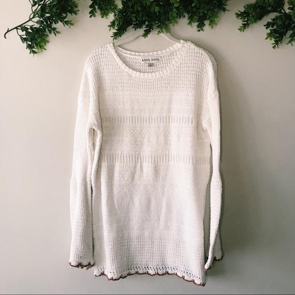 Knox Rose Cream Sweater sz L